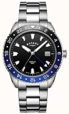 Rotary Мужской хенли | браслет из нержавеющей стали | двухцветная рамка | GB05108/63