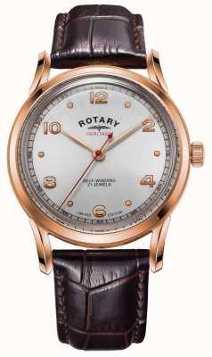 Rotary Мужское лимитированное наследие | корпус из розового золота | GS05144/70