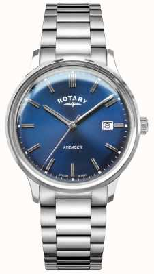 Rotary Мужской мститель | браслет из нержавеющей стали | синий циферблат GB05400/05
