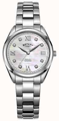Rotary Женский хенли | браслет из нержавеющей стали | алмазный набор LB05110/07/D
