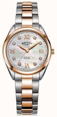 Rotary Женский хенли | двухцветный стальной браслет | алмазный набор LB05112/41/D