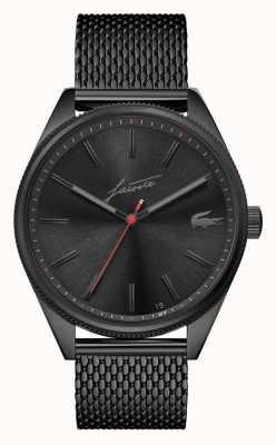 Lacoste Мужское наследие | черный сетчатый браслет из пвд | черный циферблат 2011054