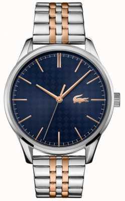 Lacoste Мужская вена | двухцветный браслет из нержавеющей стали | синий циферблат 2011048