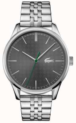 Lacoste Мужская вена | браслет из нержавеющей стали | серый циферблат 2011073