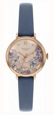 Radley   женский темно-синий кожаный ремешок   циферблат с цветочным принтом   RY2978