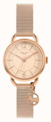 Radley | женский браслет из розового золота с сеткой | циферблат из розового золота | RY4528