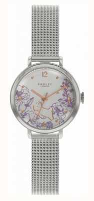 Radley | женский стальной браслет-сетка | циферблат с цветочным принтом RY4523