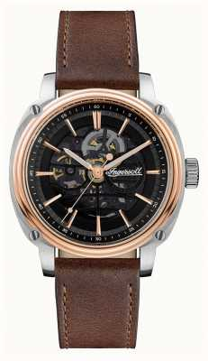 Ingersoll Мужская | директор | автоматический | коричневый кожаный ремешок I09901