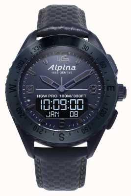 Alpina Альпинаркс | космическое издание | умные часы | синий кожаный ремешок AL-283SEN5NAQ6