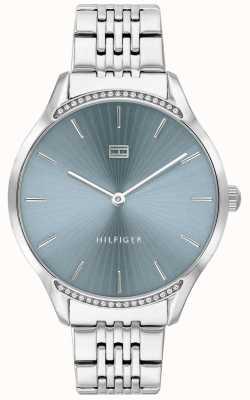 Tommy Hilfiger Серый | браслет из нержавеющей стали | синий циферблат | 1782210