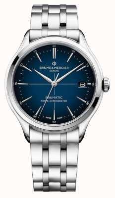 Baume & Mercier | клифтон бауматик | браслет из нержавеющей стали | синий циферблат | M0A10468