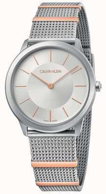 Calvin Klein | минимальный | браслет из стальной сетки | серебряный циферблат | 35мм K3M521Y6