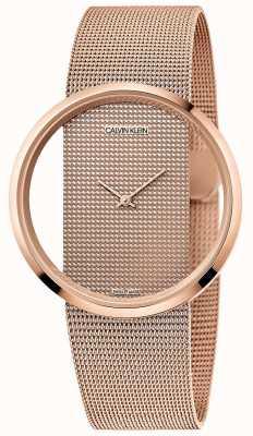 Calvin Klein | глэм | браслет из розового золота | циферблат из розового золота K942362A