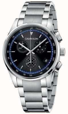 Calvin Klein | завершение | браслет из нержавеющей стали | черный циферблат | KAM27141