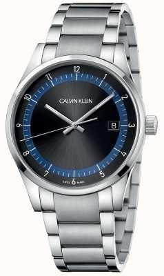 Calvin Klein | завершение | браслет из нержавеющей стали | черный / синий циферблат | KAM21141