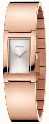 Calvin Klein | польский | стальной браслет из розового золота | серебряный циферблат | K9C2N616