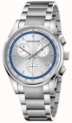 Calvin Klein | завершение | браслет из нержавеющей стали | серебряный / синий циферблат | KAM27146