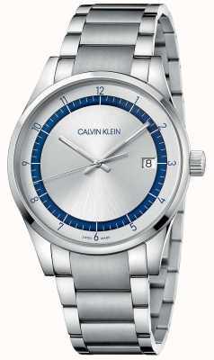 Calvin Klein | завершение | серебряный браслет из нержавеющей стали | серебряный циферблат KAM21146