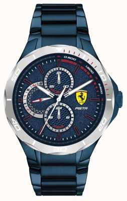Scuderia Ferrari | мужская фисташка | синий стальной браслет с ионным покрытием | синий циферблат 0830759