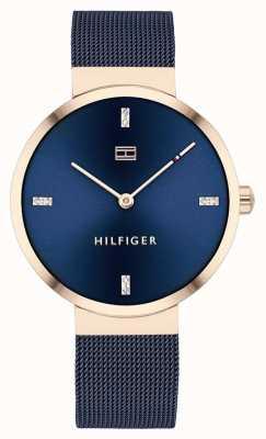 Tommy Hilfiger Свобода | синий сетчатый браслет | синий циферблат | 1782219