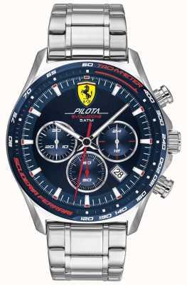 Scuderia Ferrari | мужская пилота эво | браслет из нержавеющей стали | синий циферблат 0830749