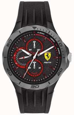 Scuderia Ferrari | мужская фисташка | черный резиновый ремешок | черный циферблат 0830725