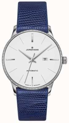 Junghans Meister женская автоматическая синяя кожа 027/4046.00