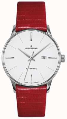 Junghans Meister женские автоматические красные кожаные 027/4044.00