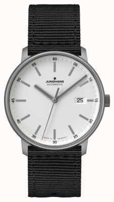Junghans Форма | титан | автоматический | черный ремешок нато | белый циферблат 027/2000.00