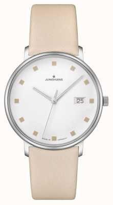 Junghans Форма дамен дата окно кожаный ремешок 047/4860.00