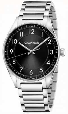 Calvin Klein | яркий | браслет из нержавеющей стали | черный циферблат KBH21141