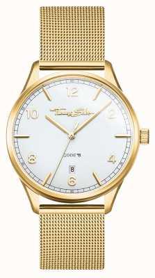 Thomas Sabo | гламур и соул | женский браслет из золотой сетки | белый циферблат WA0361-264-202-36