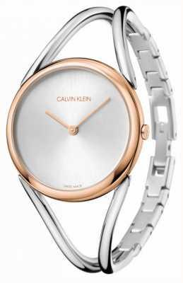 Calvin Klein Леди | браслет из нержавеющей стали | серебряный циферблат | KBA23626