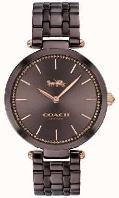 Coach | женский парк | черный / коричневый стальной браслет | коричневый циферблат 14503507