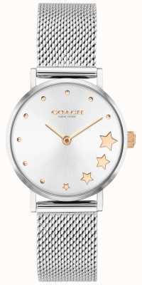 Coach | женский перри | браслет из серебряной сетки | серебряный циферблат | 14503519