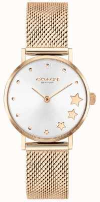 Coach | женский перри | браслет из розового золота | серебряный циферблат | 14503520