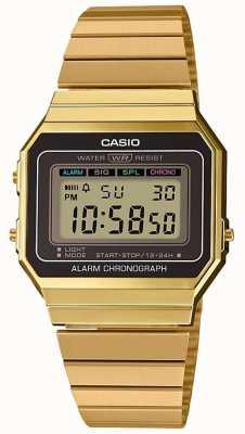 Casio | коллекция | позолоченный стальной браслет | цифровой циферблат A700WEG-9AEF