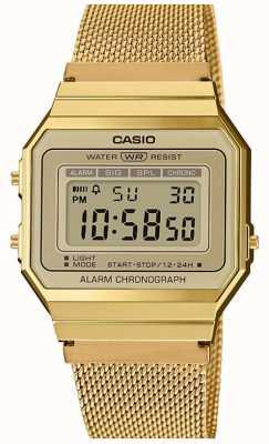 Casio | коллекция | браслет из стальной сетки | цифровой набор A700WEMG-9AEF