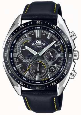 Casio | здание | хронограф | черный кожаный ремешок | черный циферблат EFR-570BL-1AVUEF