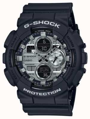 Casio | мировое время G-Shock | черная резина | черный циферблат GA-140GM-1A1ER