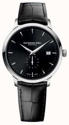 Raymond Weil Я | токката | черный кожаный ремешок | черный циферблат 5484-STC-20001