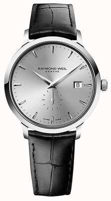Raymond Weil Мужская   токката   черный кожаный ремешок   серебряный циферблат 5484-STC-65001