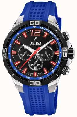 Festina Chrono bike 2020 черный циферблат с синим ремешком F20523/1