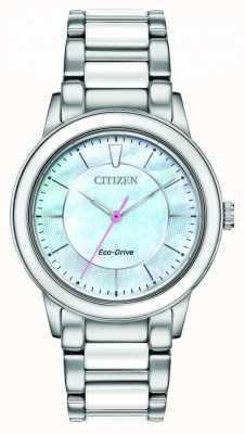 Citizen   женская   эко-драйв   светло-синий циферблат EM0740-53D