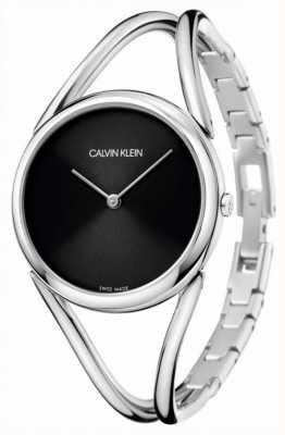 Calvin Klein Леди | браслет из нержавеющей стали | черный циферблат KBA23121
