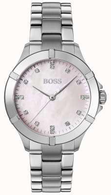 BOSS   женский мини спорт   серебряный стальной браслет   серебряный циферблат   1502469