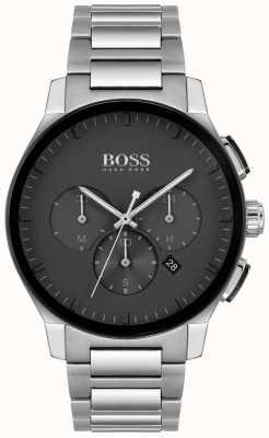 BOSS | мужская вершина | браслет из нержавеющей стали | черный циферблат | 1513762