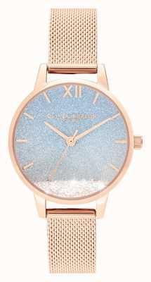 Olivia Burton Волна желаний | блеск циферблат | ремешок из розового золота OB16EX204