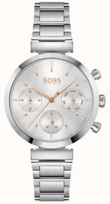BOSS Безупречный | женский браслет из нержавеющей стали | серебряный циферблат 1502530