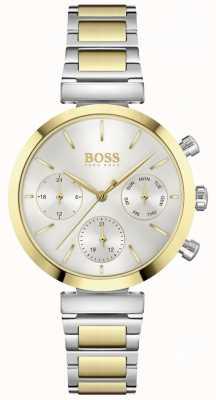 BOSS Безупречный   женский двухцветный стальной браслет   серебряный циферблат 1502550